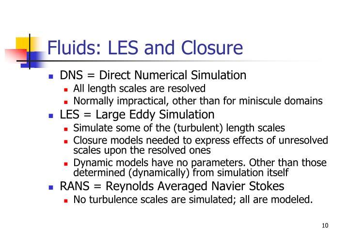 Fluids: LES and Closure