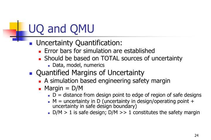 UQ and QMU