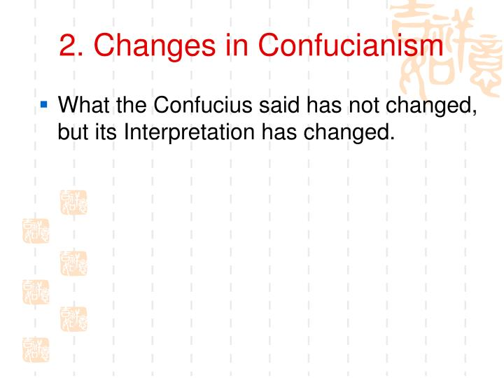 2. Changes in Confucianism