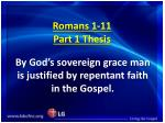 romans 1 11 part 1 thesis