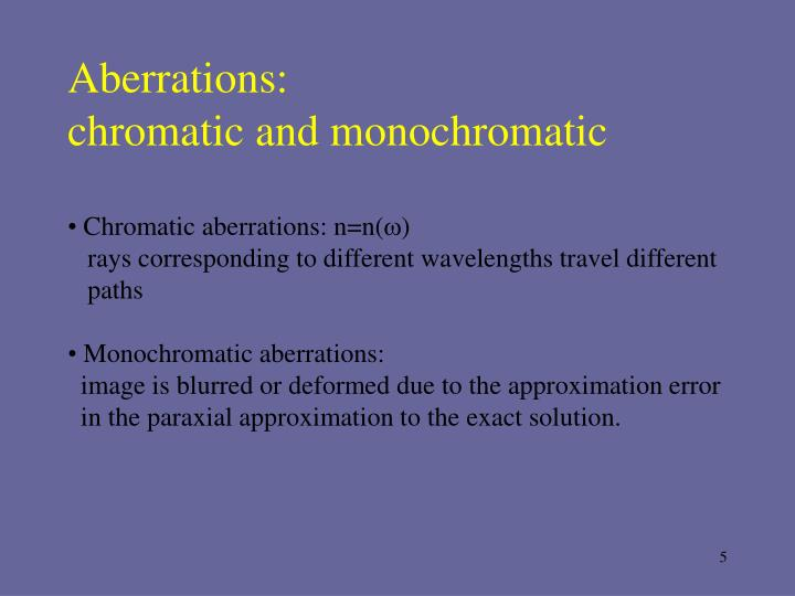 Aberrations: