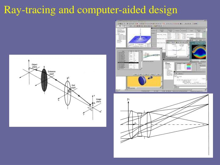 Ray-tracing and computer-aided design