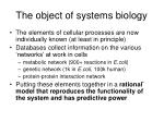 the object of systems biology10