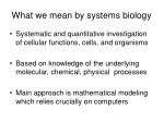 what we mean by systems biology6