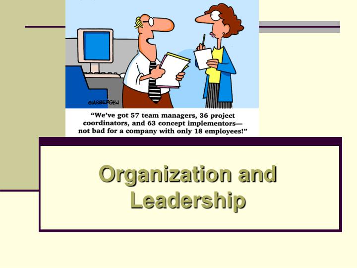 Organization and leadership