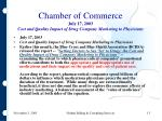 chamber of commerce july 17 2003 cost and quality impact of drug company marketing to physicians