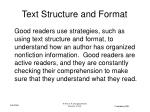 text structure and format