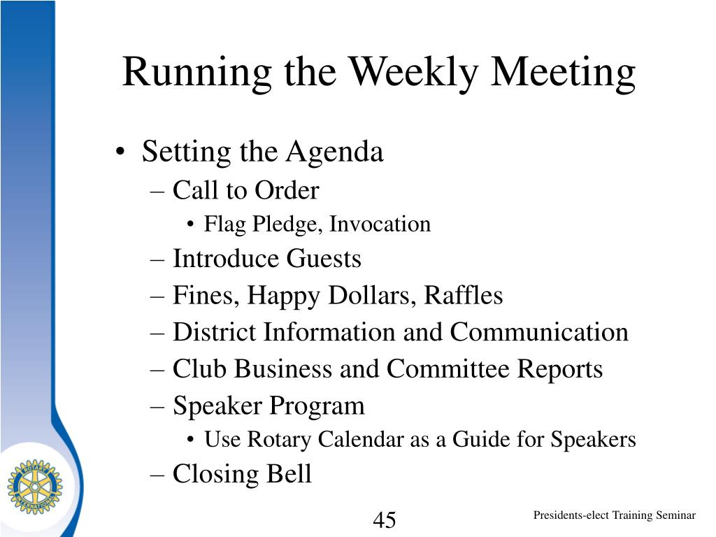 Running the Weekly Meeting
