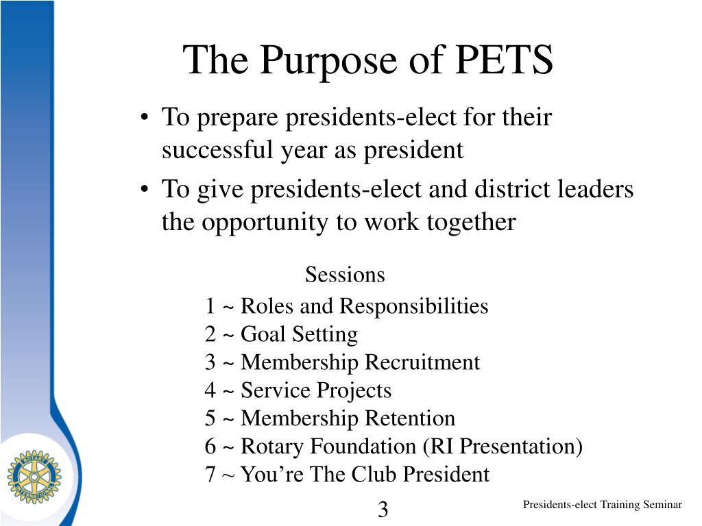 The Purpose of PETS