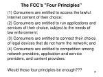 the fcc s four principles
