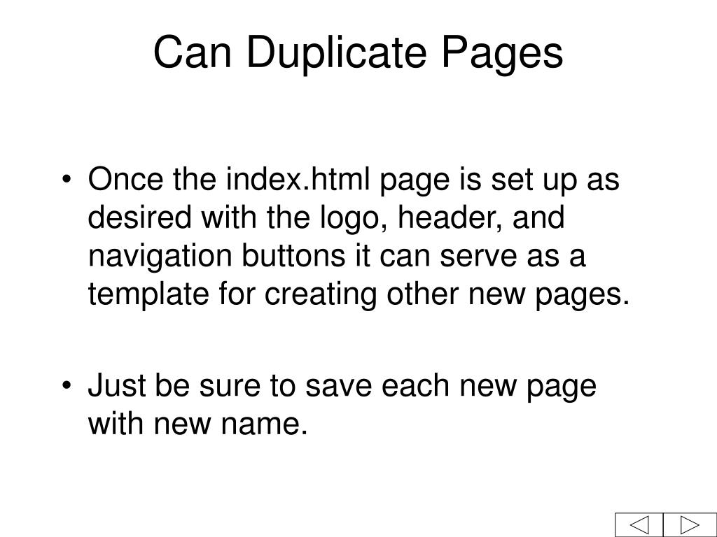 Can Duplicate Pages