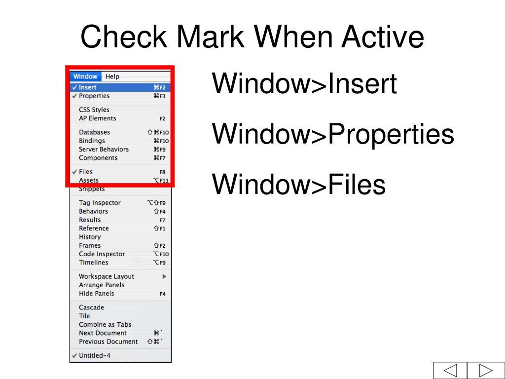 Check Mark When Active