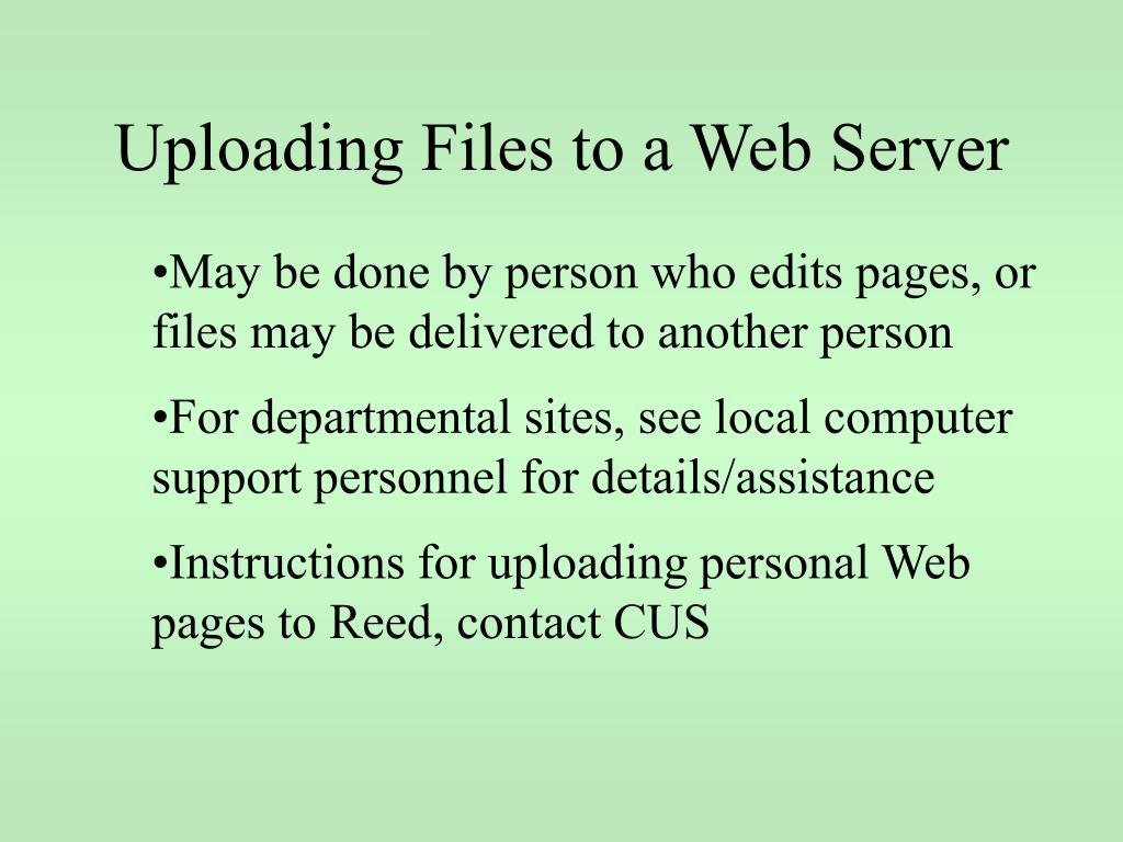 Uploading Files to a Web Server