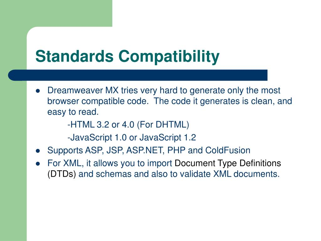 Standards Compatibility