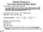 industry structure 5 the grant county welfare model