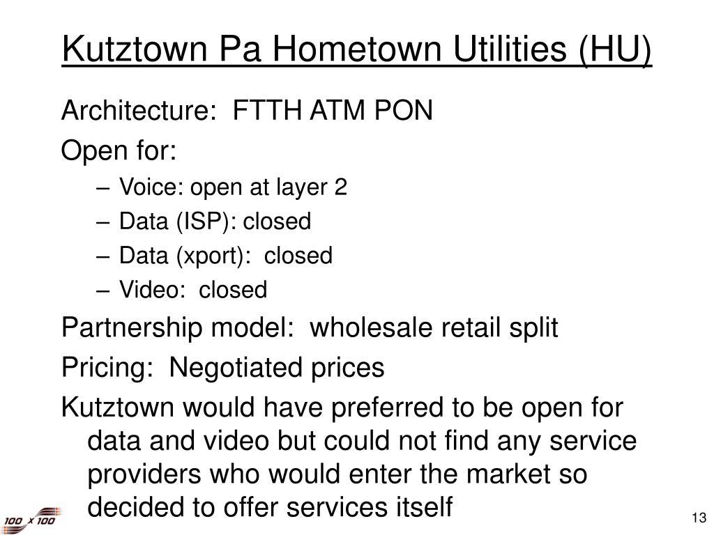 Kutztown Pa Hometown Utilities (HU)