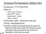 kutztown pa hometown utilities hu