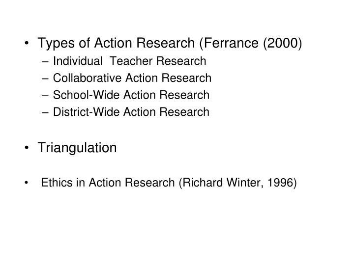 Types of Action Research (