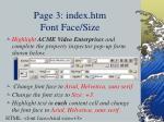 page 3 index htm font face size