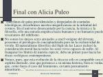final con alicia puleo