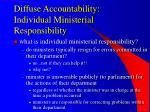 diffuse accountability individual ministerial responsibility26