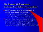 the structure of government centralized and diffuse accountability