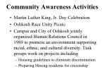 community awareness activities