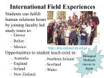 international field experiences