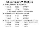 scholarships uw oshkosh