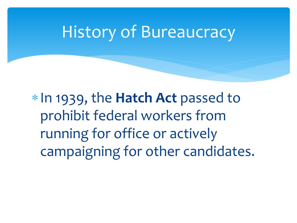 a study of the hatch act of 1939