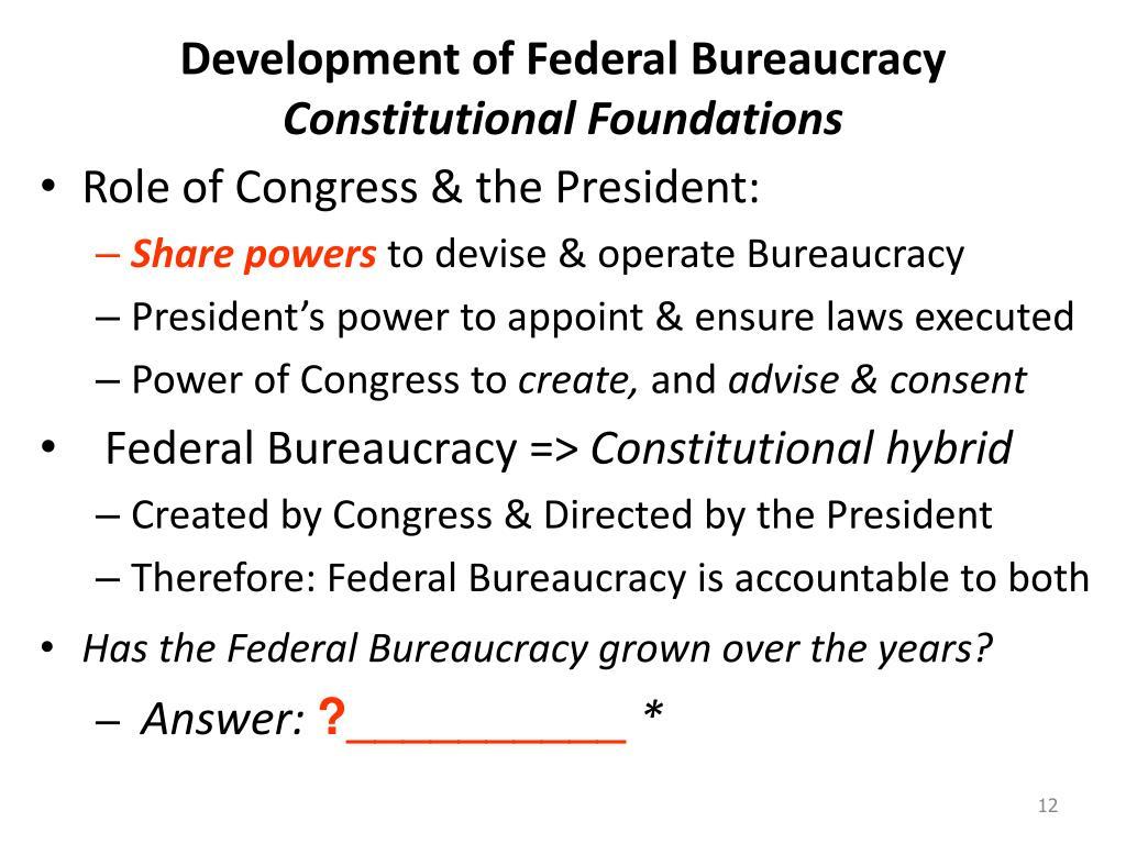 Development of Federal Bureaucracy