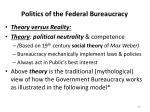 politics of the federal bureaucracy