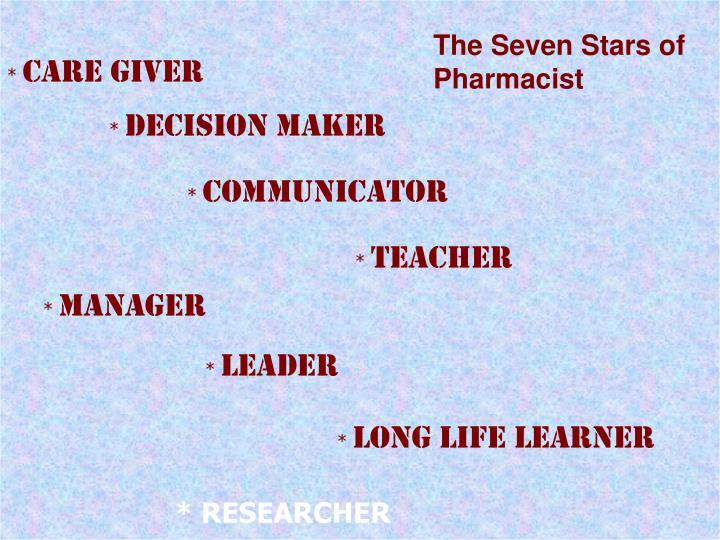 The Seven Stars of Pharmacist