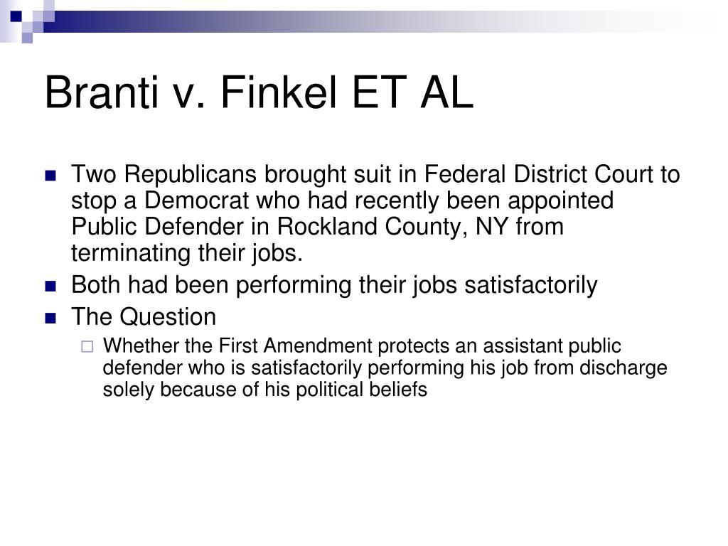 Branti v. Finkel ET AL