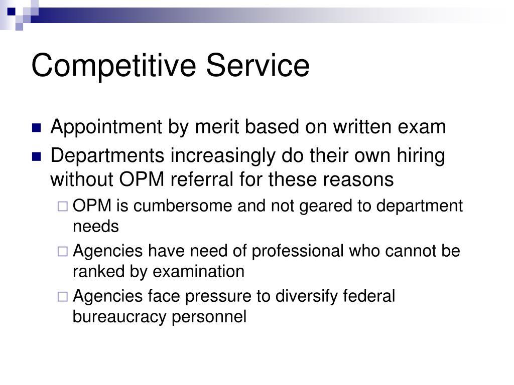 Competitive Service