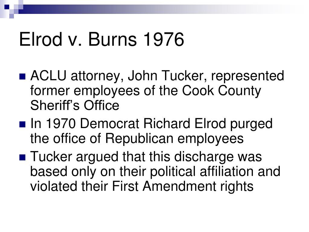 Elrod v. Burns 1976
