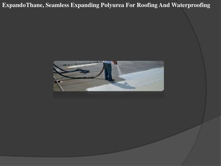ExpandoThane, Seamless Expanding Polyurea For Roofing And Waterproofing