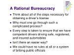 a rational bureaucracy4