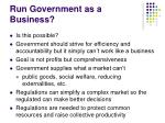 run government as a business