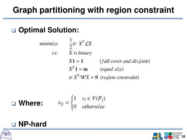 Graph partitioning with region constraint