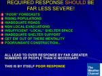 required response should be far less severe