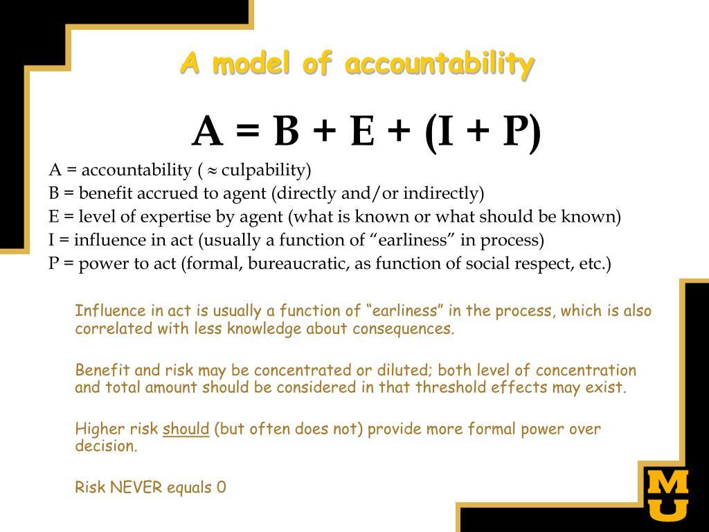 A model of accountability