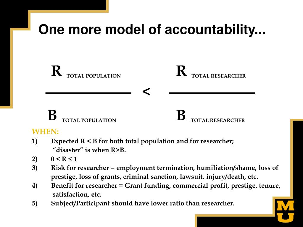 One more model of accountability...
