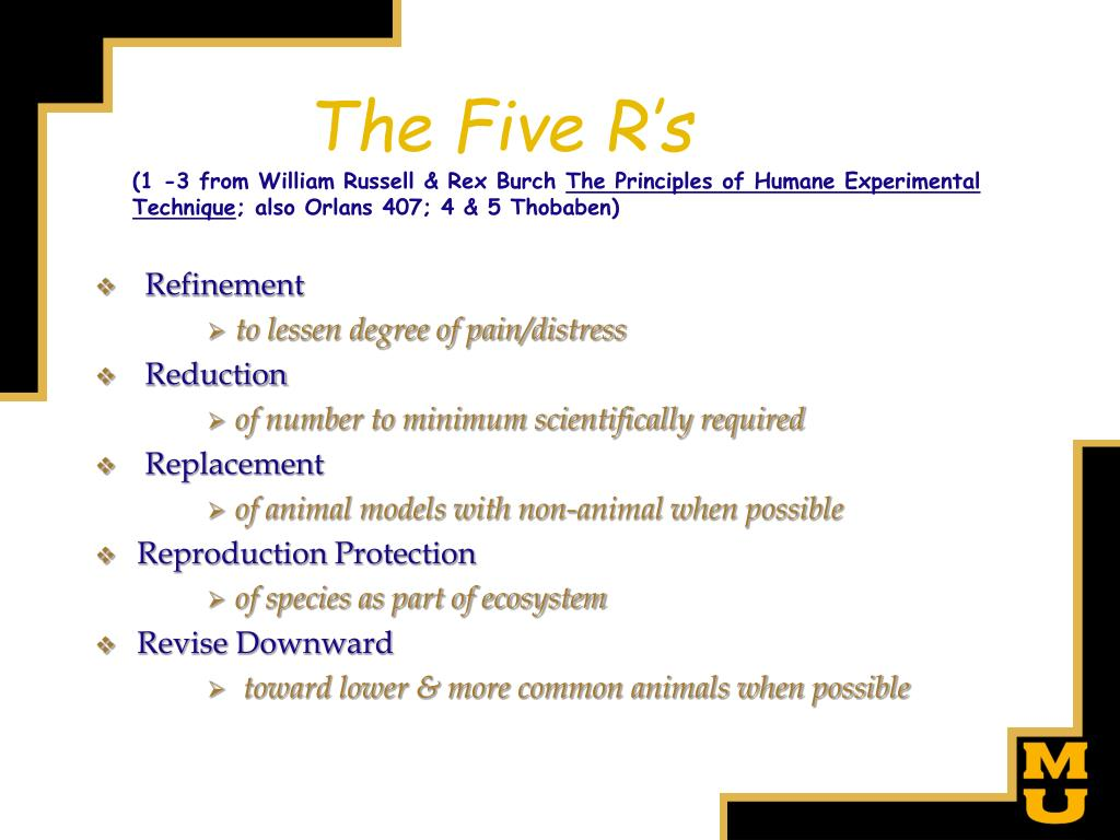 an overview of the three rs in the principles of humane experimental technique