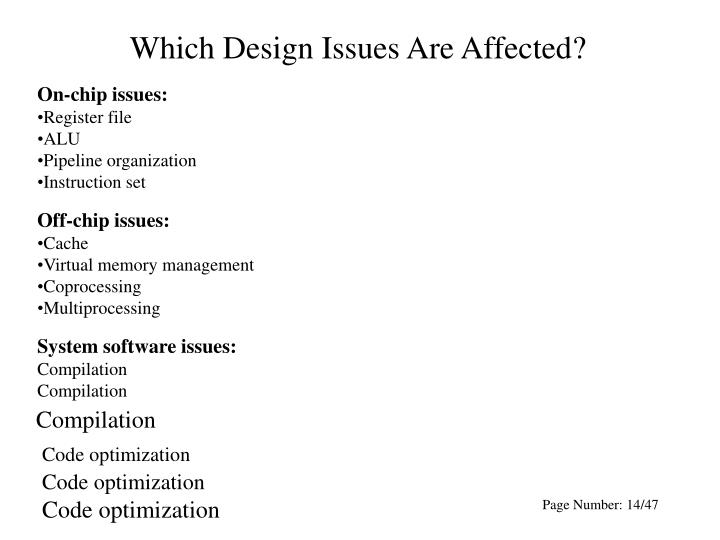 Which Design Issues Are Affected?