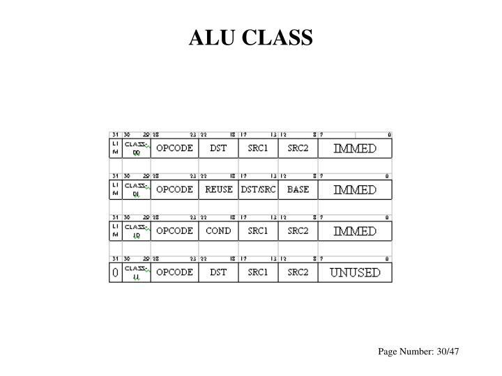 ALU CLASS
