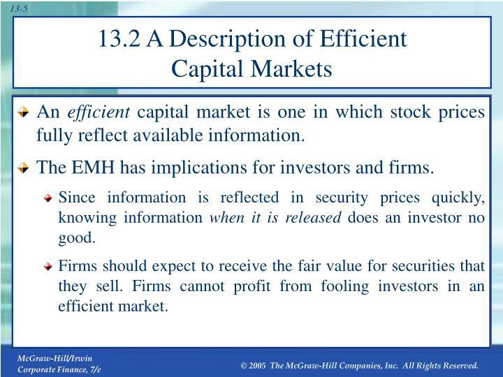 13.2 A Description of Efficient