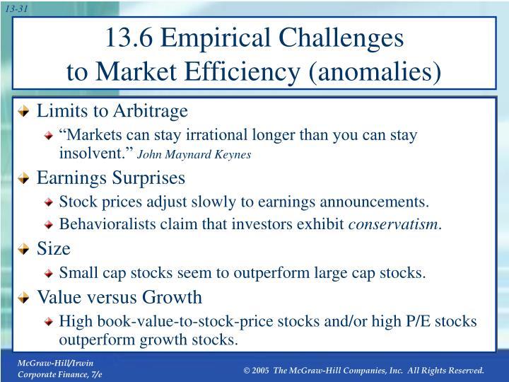 13.6 Empirical Challenges