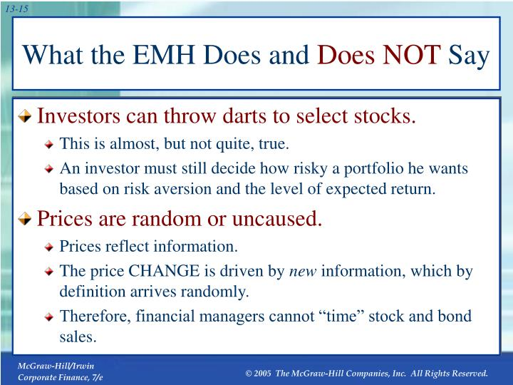 What the EMH Does and