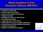 maine coalition to end domestic violence mcedv